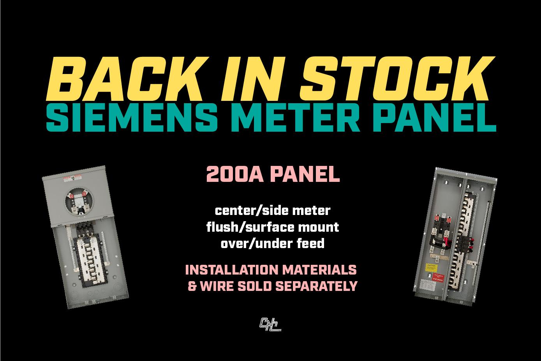 Back in Stock: All Siemens Meter Panels