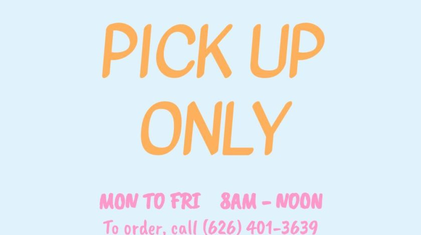 PICK UP MON TO FRI 8 AM TO NOON