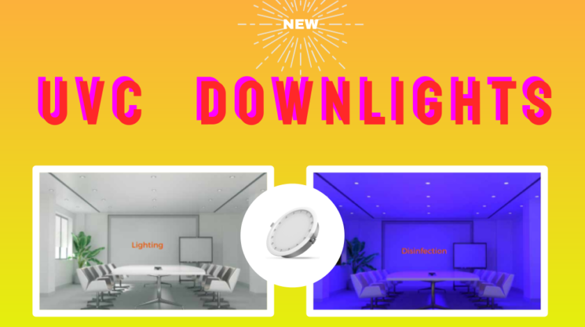 UVC Downlights Illuminating and Sanitizing