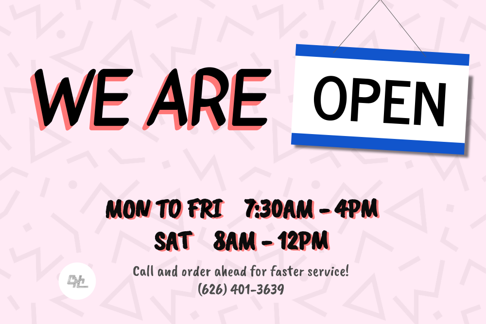 Open Monday to Friday 7:30 am to 4 pm and Saturday 8 am to noon